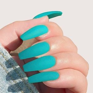 💎🆕 Turquoise Long Tip PRESS ON NAILS